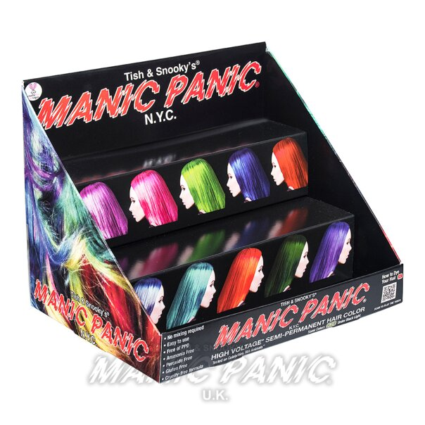 Manic Panic Display o Exhibidor de Mostrador Sin Carta de Colores ( 12 Piezas)