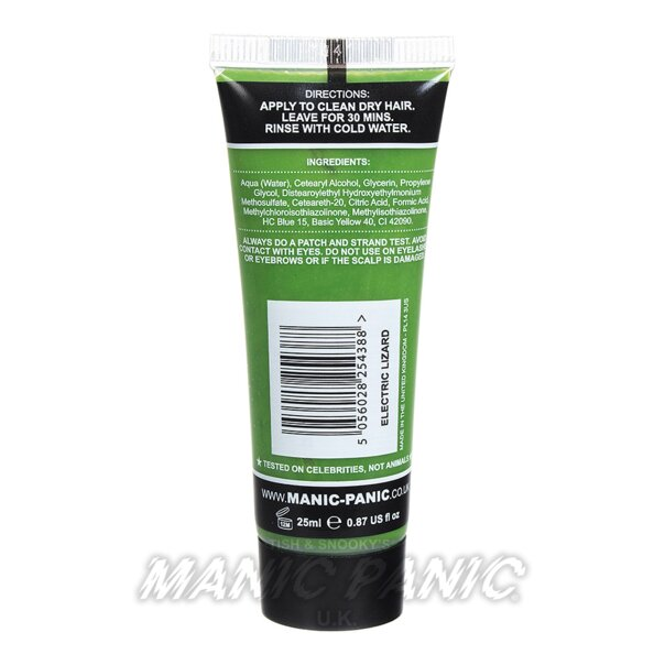 Manic Panic Coloration Semi Permanente Classic High Voltage 25ml (Electric Lizard - Vert)