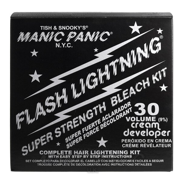 Manic Panic Flash Lightning® Bleach Kit (30 Volume Cream Developer)