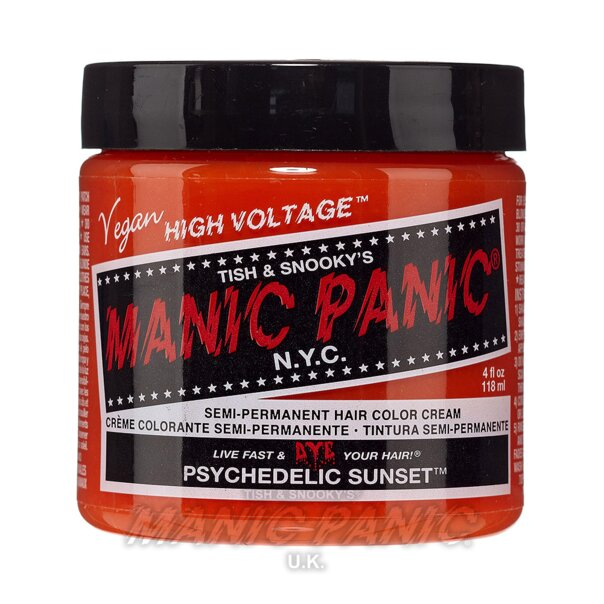 Manic Panic High Voltage Classic Tinte Capilar Semi-Permanente 118ml (Psychedelic Sunset - Naranja)