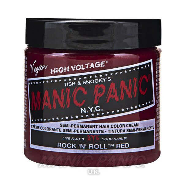 Manic Panic High Voltage Classic Tinte Capilar Semi-Permanente 118ml (Tock 'N' Roll Red - Rojo)