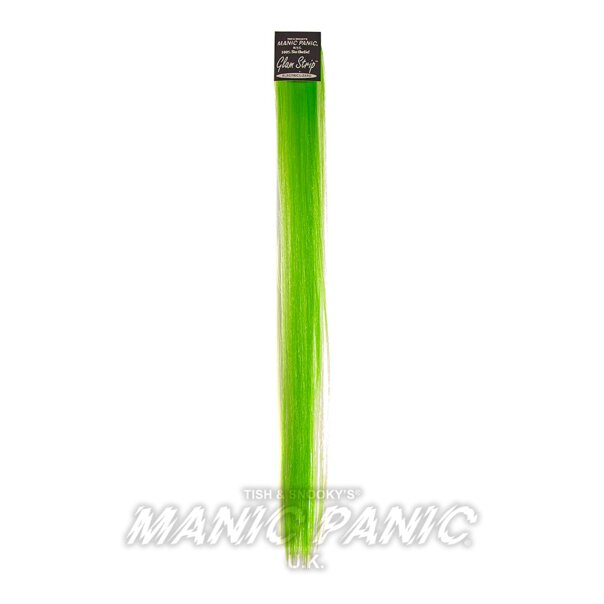 Manic Panic Mèche De Cheveux Synthétiques Glam Strips (Electrict Lizard - Vert)