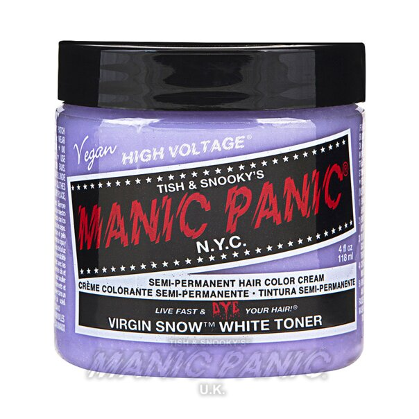 Manic Panic High Voltage Classic Tinte Capilar Semi-Permanente 118ml (Virgin Snow – Tóner Blanco)